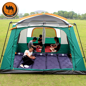 Image 5 - Samcamel 8 12 Person One Hall Two Bedroom Double Layer Waterproof Camping Tent Large Gazebo Carpas De Camping
