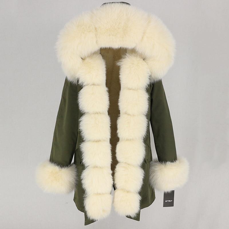 OFTBUY Waterproof Long Parka Winter Jacket Women Real Fur Coat Natural Fox Fur Collar Hood Thick Warm Streetwear Detachable New 69
