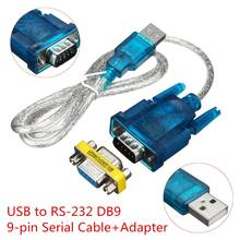 Cabo usb para rs232 série, 9 pin db9 cabo serial com conversor adaptador de porta com suporte adaptador fêmea para windows 8 no cd