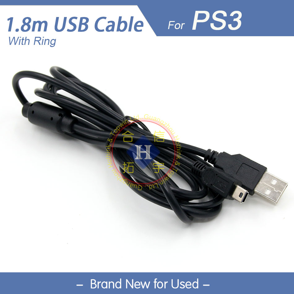 HOTHINK 1.8M USB Charging charger & Play Cable For Sony Playstation 3 PS3 Controller dualshock 3 gamepad