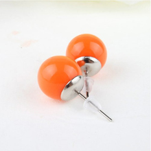 Hot explosion models QQ ball wild candy-colored resin earrings New Fashion