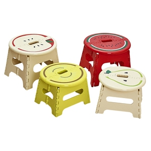 Image 4 - Hot Sale Pp Stool Tabouret En Bois Krukje Hout Folding Stool Cartoon Plastic Portable Low Outdoor Small Bench Adult Child