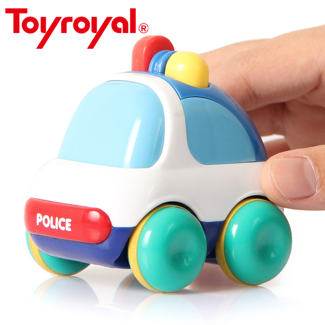 Toyroyal Inertia Vehicles Push and Go Toddlers Mini Friction Powered Car Toys Gift for Children Kids Boys and Girls