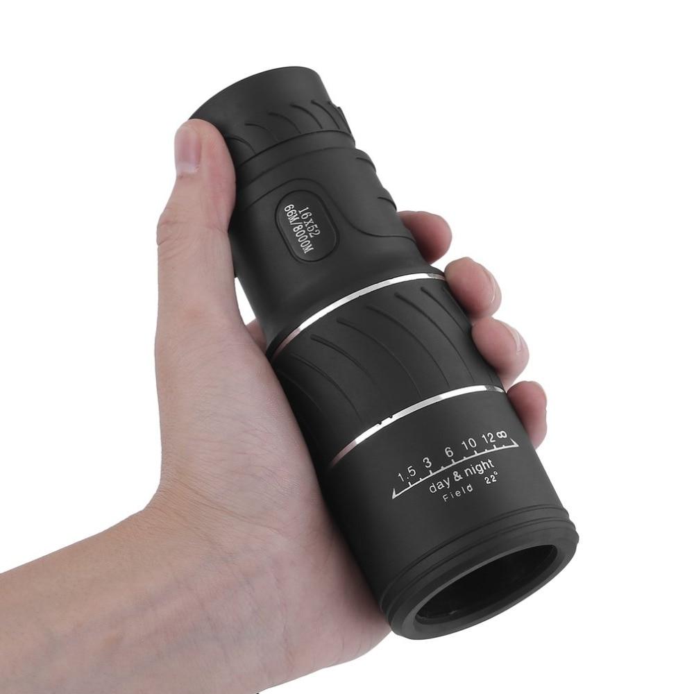 16×52 Telescope HD Vision 66m/8000m  Waterproof Monocular Smartphones Camera Coating Magnifier+Bag Outdoor Hunting