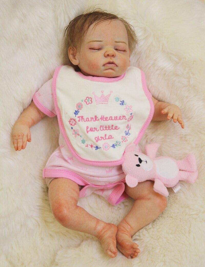 Prawdziwy dotyk silikon Reborn dziewczyna dla dzieci lalki zabawki realistyczne miękkie ciało noworodka spania dzieci piękny prezent urodzinowy dziewczyna Brinquedos w Lalki od Zabawki i hobby na  Grupa 2