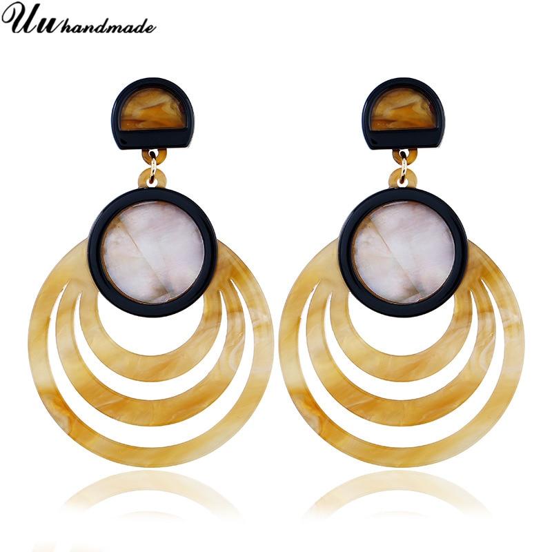 Geometric Acrylic Long earrings for women Color Earring boucle d oreille fantaisie pendientes oorbellen Earings fashion