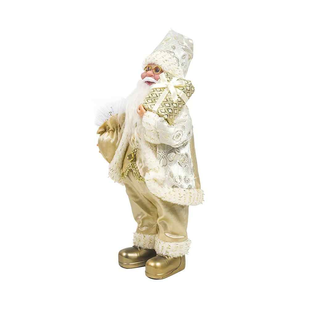 33 см рождественское сидение орнамент имитация Санта Клауса кукла маска старика плюшевая фигурка игрушка анимированная Подарочная Рождественская кукла украшение #