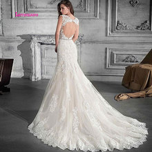 LEIYINXIANG Elegant 2019Wedding Dress Sleeveless Backless