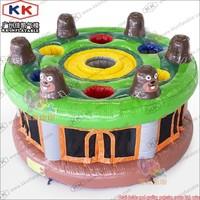 2018 IAAPA popular Inflatable Whack A Mole sport game, commercial poke a mole