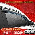 Para Mitsubishi Eclipse Cross 2018 4 unids/set cubierta de diseño del cuerpo del coche ventana de plástico Visor de viento lluvia/protector solar fundas de ventilación para coche