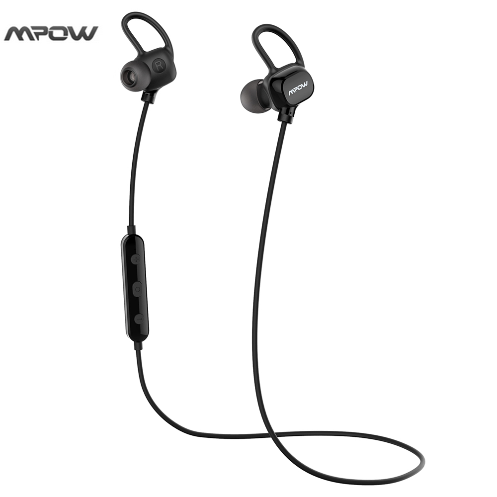 Mpow  Bluetooth 4.1 Headset Wireless Earphone Sport Running Headphone Bluetooth Earpiece Sweatproof Noise Cancelling With Mic qcy q25 bluetooth 4 1 earphone wireless noise cancelling headphone