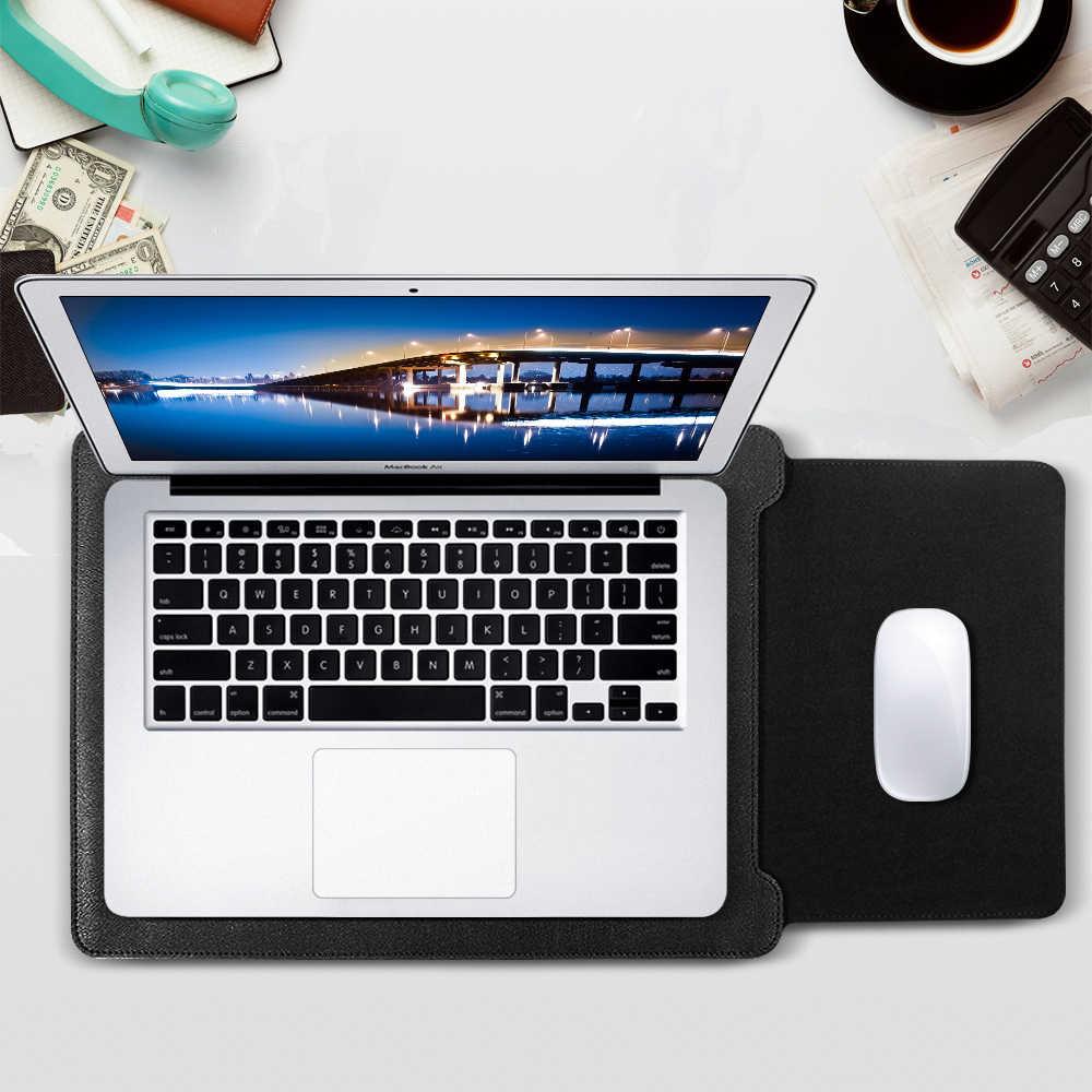GOLP Universal PU Kulit Lembut Tas Kasus Lengan Untuk for Macbook Air Pro Retina 11 12 13 15 untuk Laptop Cover Untuk for Macbook air 13.3 inch
