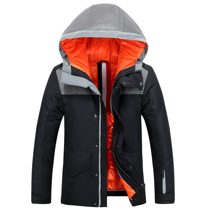 Classic Mens Winter Jacket Parka White Duck Down Feather Wadded Coat Hooded Mens Quilted Jackets Winter Warm Outwear Windproof mens winter warm down coat ultra light white duck down jacket men hooded outdoors portable coats parka plus size xxxl