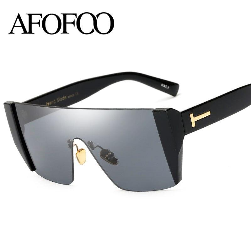 AFOFOO Fashion Lady Sunglasses Luxury Brand Designer Women Square Sun glasses Men UV400 Shades Female Goggles Eyewear