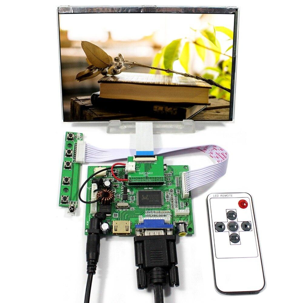 HDMI+VGA+2AV LCD Controller Board With 7inch 1280x800 HSD070PWW1-C00 IPS LCD Screen hdmi vga av audio usb fpv control board 7inch hsd070pww1 c 1280 800 ips lcd