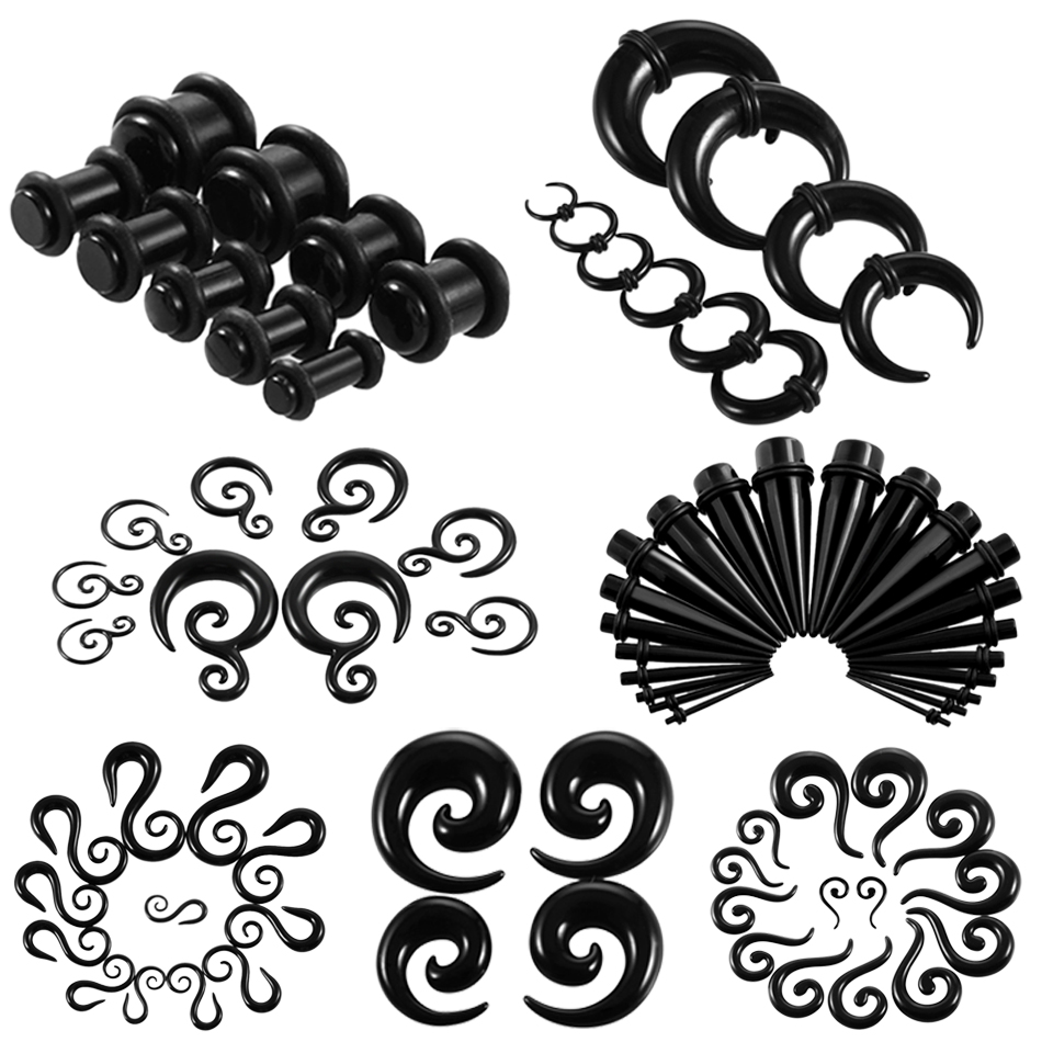 Expander Earring-Gauges Stretcher Plugs Piercing Ear-Taper-Tunnel Body-Jewelry Fake Spiral