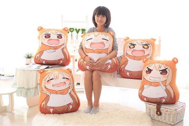 Kawaii Sankaku głowa Himouto Umaru Chan Umaru Doma Cosplay MARMOT aksamitne lalki i humanoidalne pluszowe wypchane zwierzę dzieci zabawki lalki