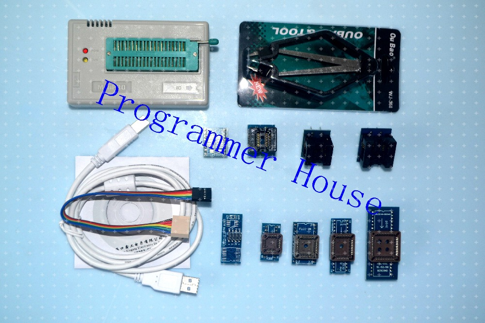 100% XGECU TL866A TL866II плюс универсальный программатор Поддержка ICSP Поддержка NAND FLASH \ EEPROM \ MCU СОП \ PLCC \ TSOP включает 9 адаптеры