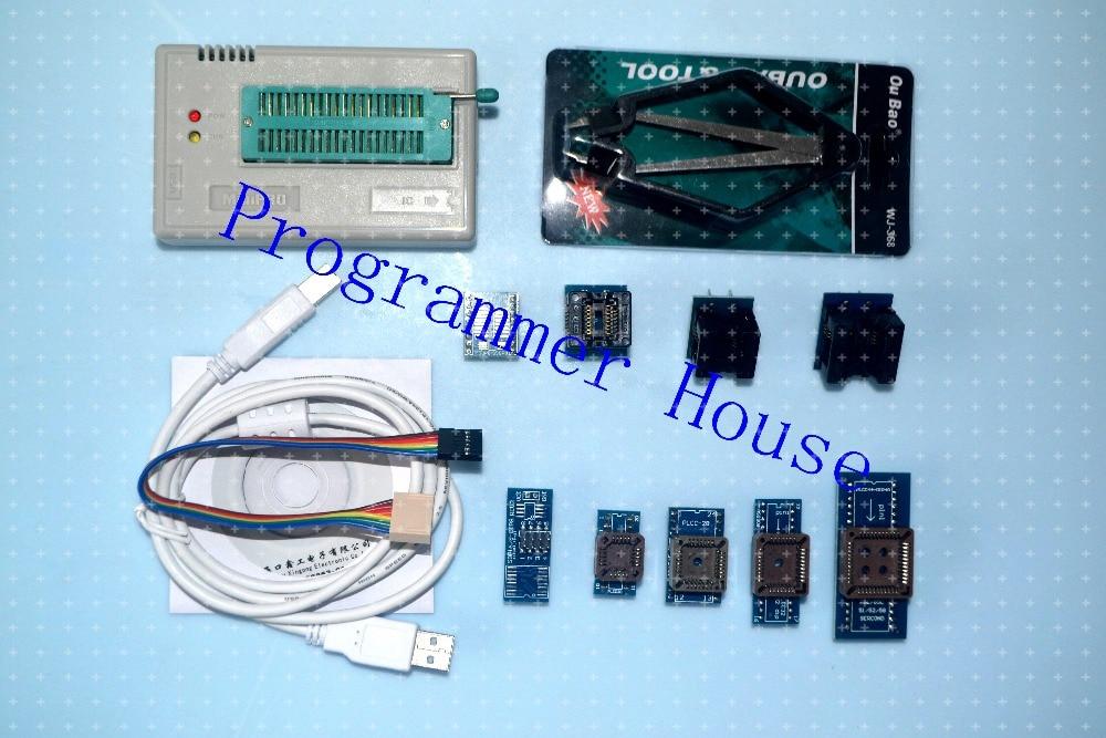100% XGECU TL866A TL866II Plus Universal Programmer Support ICSP Support NAND FLASH\EEPROM\MCU SOP\PLCC\TSOP include 9 adapters