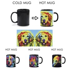 Funny Magic Coffee Mugs Great Dane Dog Heat Activated Mugs Color Change Milk Tea Mug Good Gift Art Animals Ceramics Travel Mug