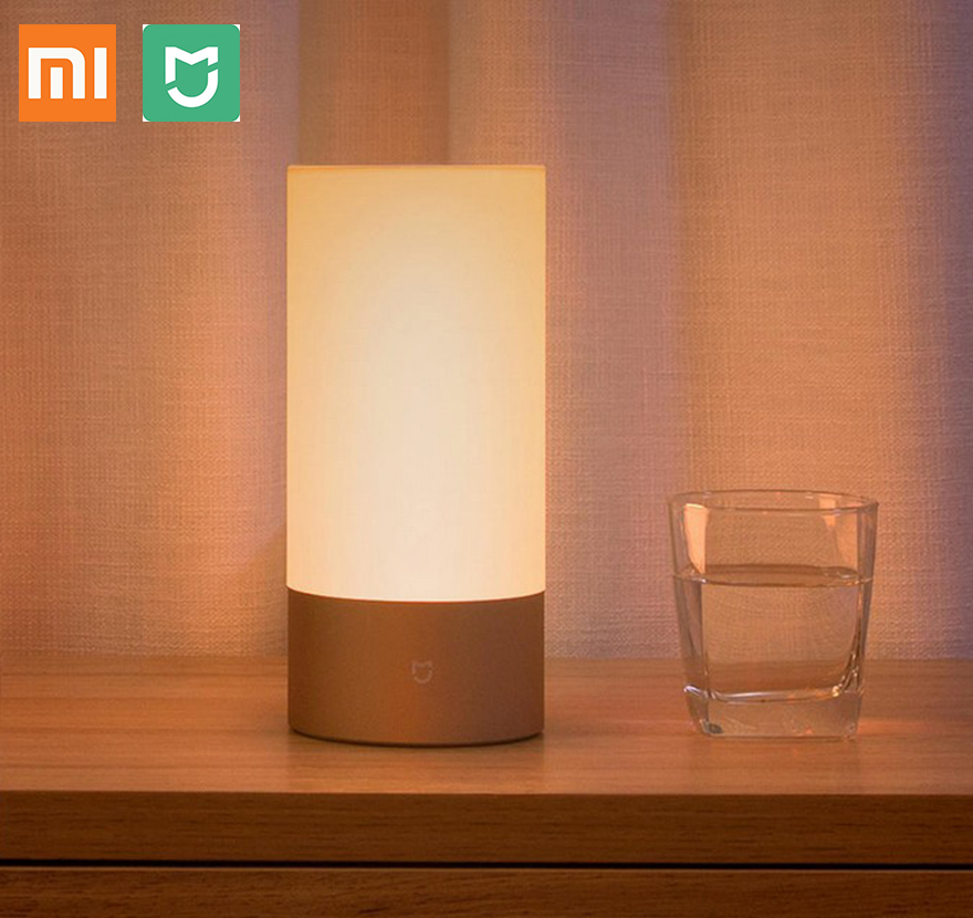 xiaomi new led bedside lamp mijia bed lamp light bedlight romantic help sleep bluetooth wifi connection