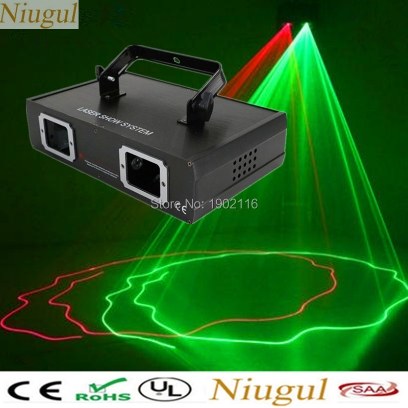 Niugul 2 Lens RG DMX Laser Projector/ KTV Disco DJ Stage Party Lighting /Red Green Color Laser /DMX LED Beam Effect Stage Lights 1m 40teeth 1 4 precision copper worm gear rod screw machine parts gear hole 8mm rod hole 6mm