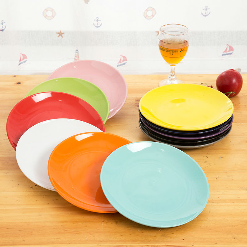 Multi Colors Thick Round Pottery Plates Candy Service Plates Convenient Fruit Plates-in Dishes \u0026 Plates from Home \u0026 Garden on Aliexpress.com | Alibaba Group & Multi Colors Thick Round Pottery Plates Candy Service Plates ...