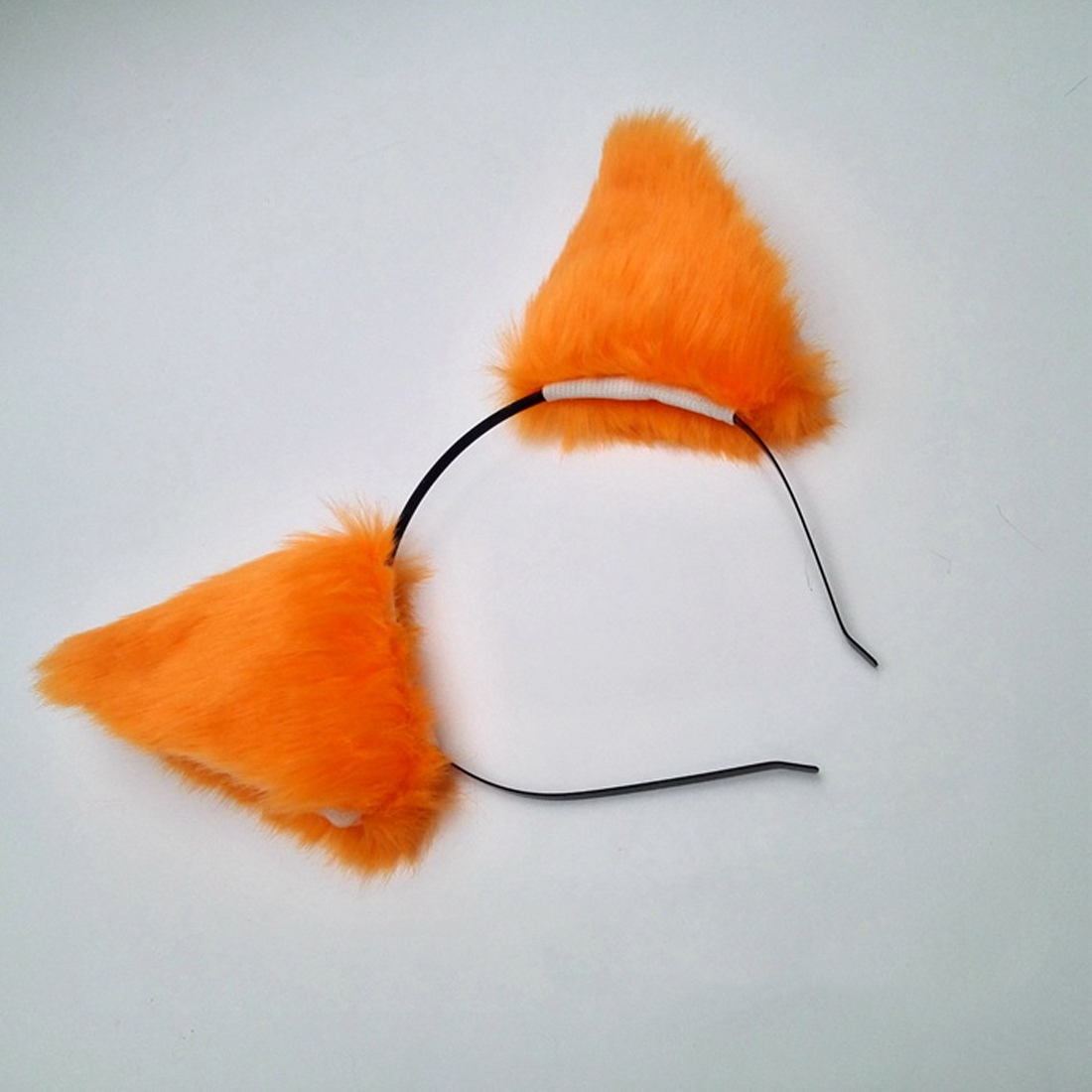 1 Piece Cute Girl Plush Cat Ears Black Black Headband 2018 New Anime Cosplay Fox Hair Hoop Plush Edging Headdress  Fur Hair Clip