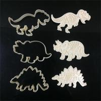 6pcs Set Dinosaur Cookies Cutter Biscuit Mould Set Baking Tools Cutter Tools Cake Decoration Bakeware Mold