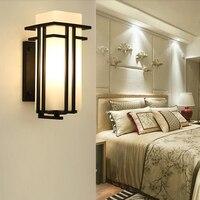 Китайский Гостиная исследование настенный светильник Спальня ночники лестничные фон ТВ Бра Открытый Linght коридор декоративные лампы Встра