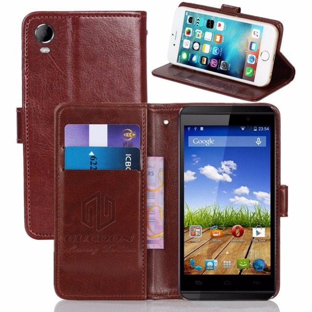 reputable site 1d3e3 1b6a7 GUCOON Vintage Wallet Case for Micromax Canvas Fire 2 A104 PU ...