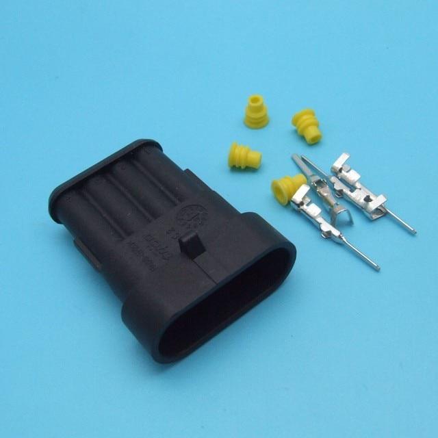 100kit 4 way male 282088 1 ip67 Tyco TE AMP Super seal Waterproof ...