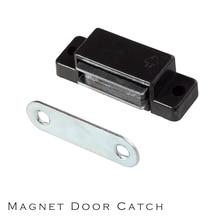 Шкаф и т. Д. Мебельная дверная защелка/заглушки черный пластик с высоким магнитом