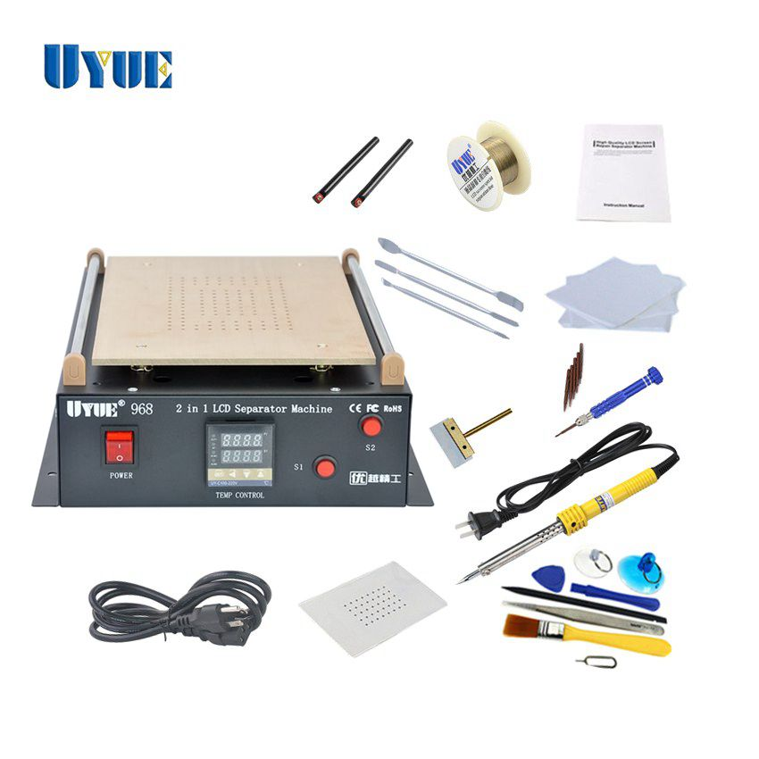 14 inch UYUE 968 Build-in Vacuum Pump LCD Separator Machine kit for Pad Phone LCD screen Refurbish 3 in 1 for sumsung bezel middle frame separator vacuum glass panel lcd screen separator preheater