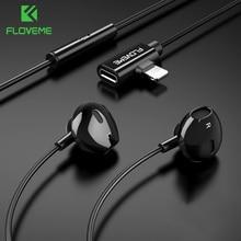 FLOVEME 2 in 1 Listening Charging Magnetic Earphones For iPhone 7 8 Plus X XS MAX In-Ear Earphone Earbuds Stereo Sport Headphone