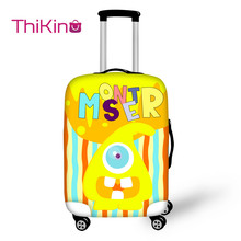 Thikin  Printing Cartoon Travel Luggage Cover Candy Color School Trunk Suitcase Protective Bag Protector