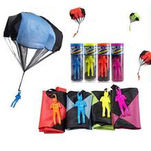 Kids Hand Throwing Mini Play Parachute Toy for Outdoor Sports Random Color недорого