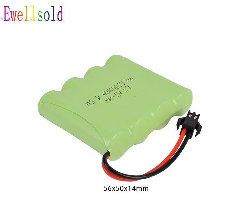 Ewellsold 4.8v 700mAh/1800mah/2800mah Ni-CD battery for RC car /rc boat/ rc tank /The toy robot 6v 2800mah m style high capacity aa ni mh rechargeable battery for electric toys rc car rc truck rc boat jst sm tamiya plug
