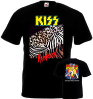 Get T Shirts Printed Short Sleeve Printed Crew Neck Mens Kiss Animalize Tour 85 T Shirt