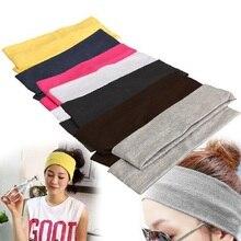 1/2 шт., спортивные эластичные повязки для волос для йоги, спортивные принадлежности для йоги, танцев, байкеров, широкая повязка, стрейч-лента, хлопковая повязка для волос