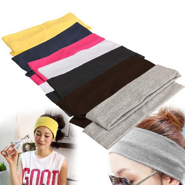 Elastic Cotton Headbands for Yoga and Workout