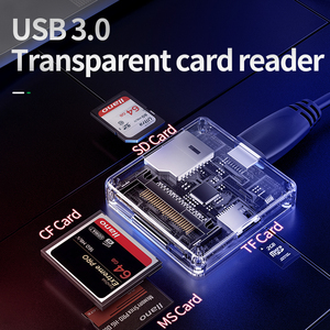 Image 2 - 4 in 1 Multi USB 3.0 smart card reader flash multi memory card reader for USB3.0/SD/TF/MS/CF card reading micor SD flash card