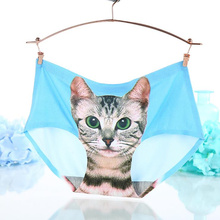 Sexy Cute Cat Panties for Women Girls Seamless Breathable Underwear Calcinha Cartoon Printing Lingerie Culotte ladies