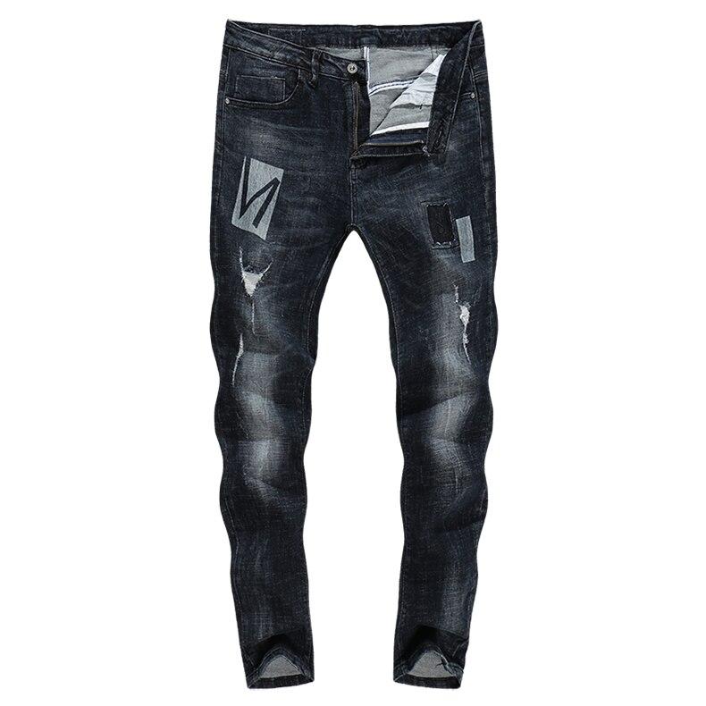 KSTUN Skinny Jeans Men Winter Jeans Dark Blue Ripped Biker Jeans Stretch Hiphop Handsome Cool Denim Trousers Damaged Man Jeans 11