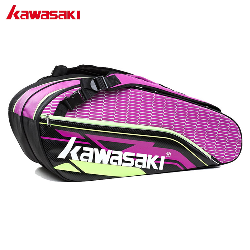 Kawasaki Professional Sports Badminton Bag With Additional Shoes Bag Double Layer Tennis Racket Bags For Men Women KBB-8680