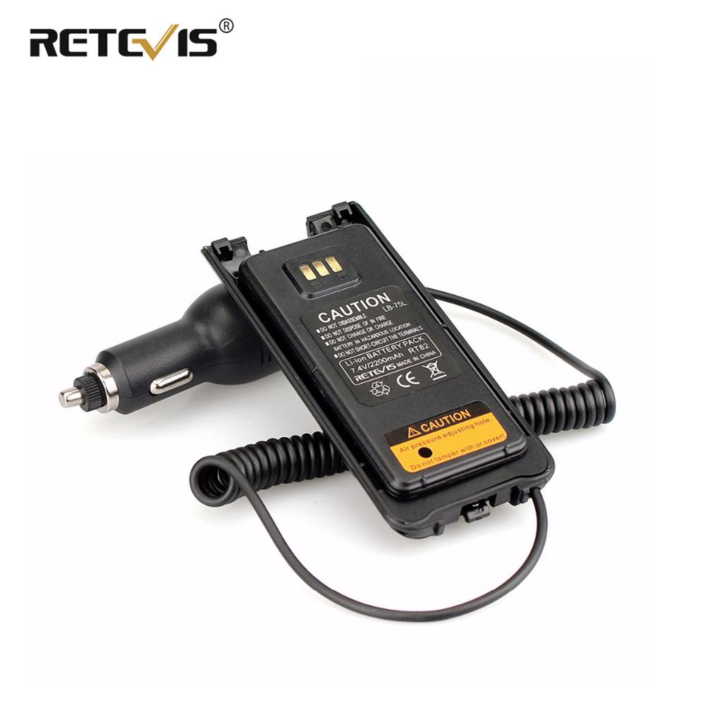 New Black Car/Vehicle Charger Battery Eliminator 12V-24V For Dual Band DMR Retevis RT82 Walkie Talkie Accessories J9127J