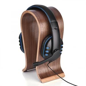 Image 5 - Universele U Vorm Hout Hoofdtelefoon Stand Houder Oortelefoon Hanger Houten Headset Bureau Display Plank Rack Stand Beugel