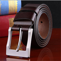 Mens Fashion Belt 100 Cowhide Genuine Leather Belts For Men Brand Strap Male Pin Buckle Fancy
