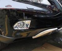 Chrome Front Bumper Fog Light cover Bezels trim For LEXUS RX270 RX350 2010 2011
