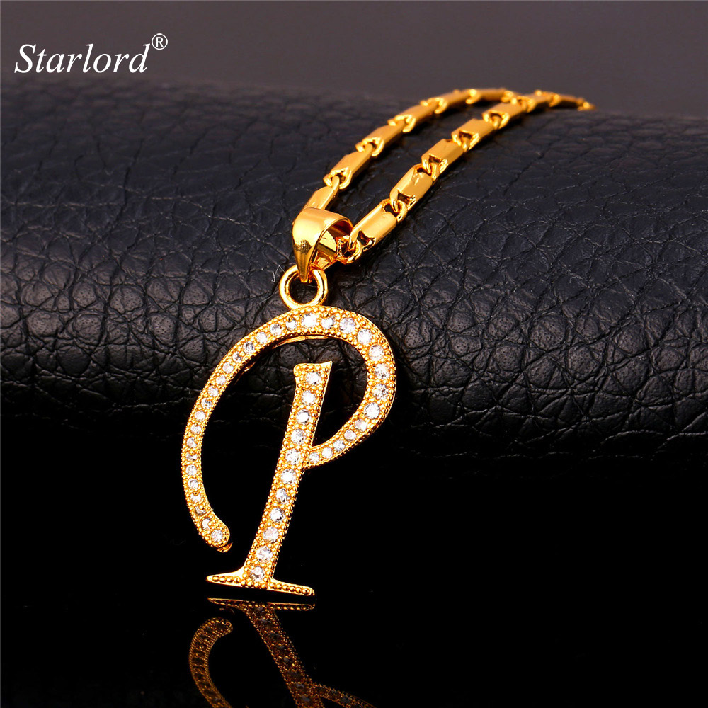 Aliexpress.: Buy Initial P Letter Pendants & Necklaces Women